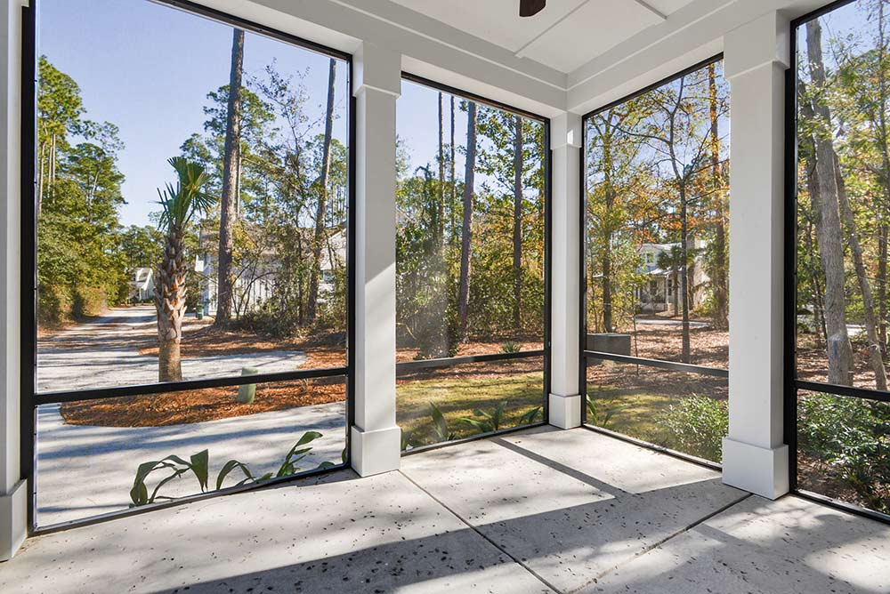Old Town Bluffton Custom Home Screened Porch